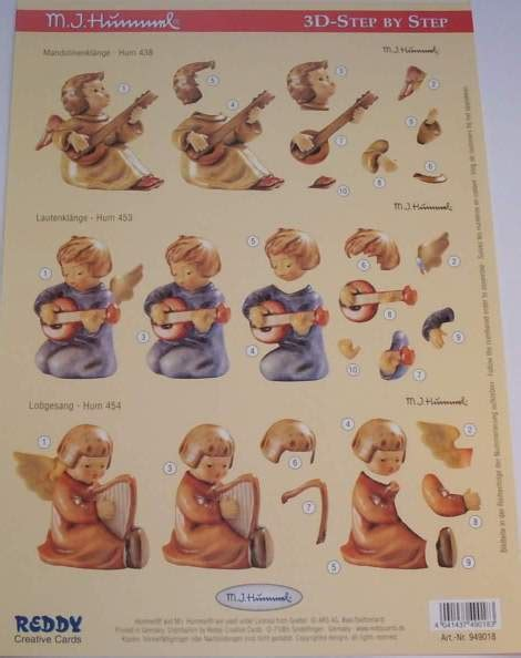 Decoupage Step By Step - foil play a4 3d step by step hummel decoupage musical