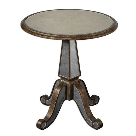Rustic Accent Table Uttermost Eraman Antiqued Rustic Gold Accent Table