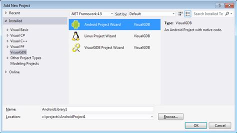 tutorial android library creating native android libraries with visual studio