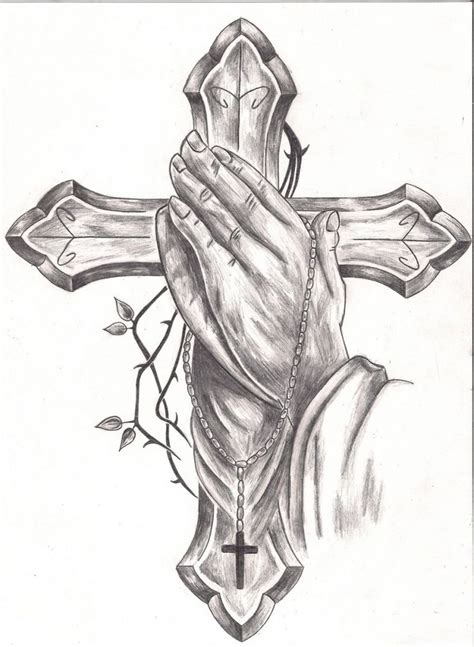 praying hand with cross tattoos best 25 cross designs ideas on cross