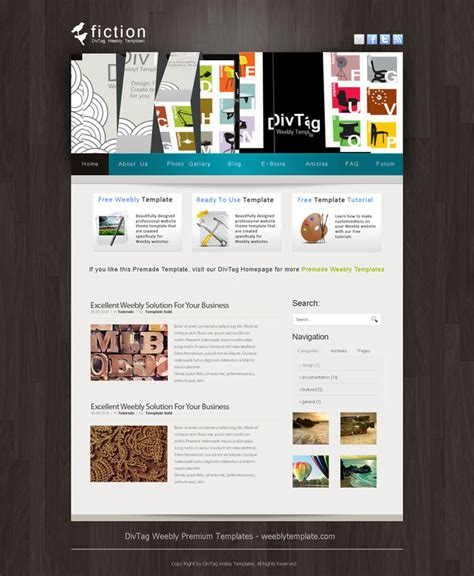 weebly templates and weebly themes divtag templates