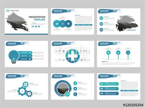 quot blue abstract presentation templates infographic