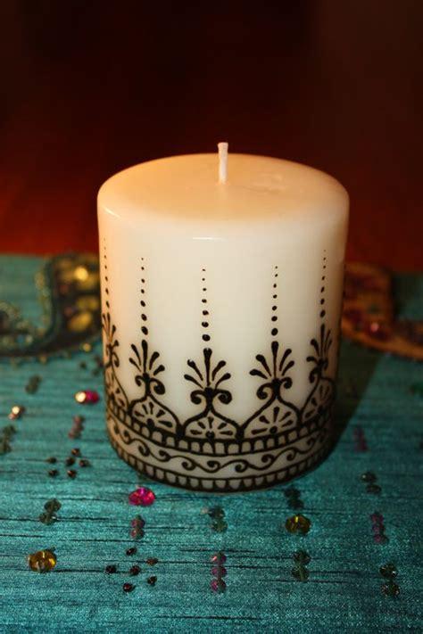 candele design 3x3 inch vanilla scented henna candle mehndi vanilla
