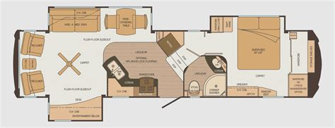 floor plans for rvs cargo trailer cer conversion floor plans inspirational