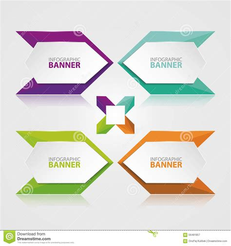 Origami Banner Vector - origami vector banner white banner wrapped with colored
