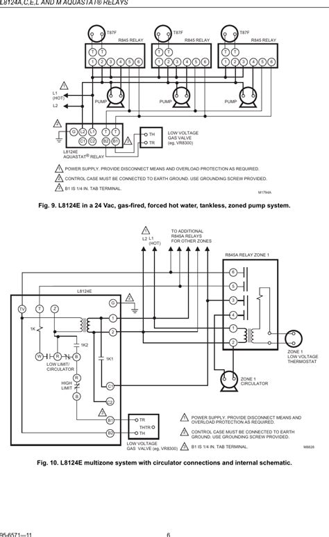 aquastat l8124a wiring diagram free wiring