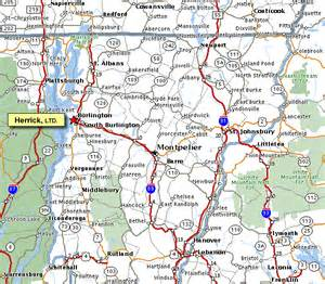 map of vermont and canada map of northern vermont
