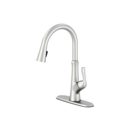 pull down kitchen faucets stainless steel schon concealed single handle pull down sprayer kitchen
