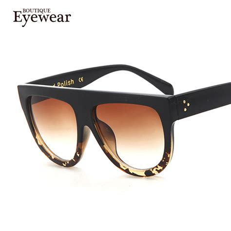 boutique flat top mirror sun glasses cat eye