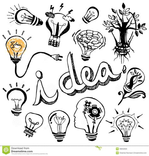 doodle god how to create light bulb vector light bulb doodle stock vector image