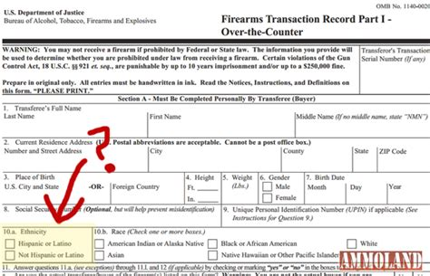 How To Fill Out Application To Pass Atf Obama S Atf Targeting Hispanic Gun Buyers With New