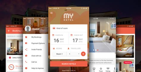 Theme Hotel Mobile | my hotel ionic theme ionic template for mobile booking