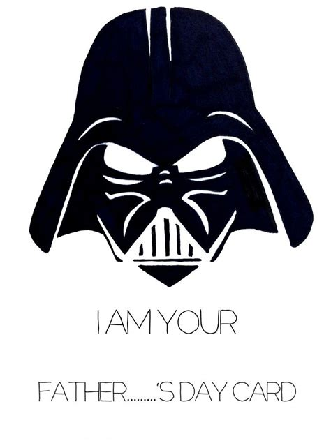 Darth Vader S Day Card Printable