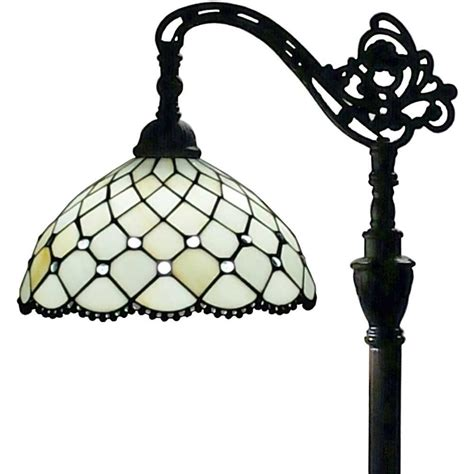 tiffany reading floor l amora lighting 62 in tiffany style floor l with