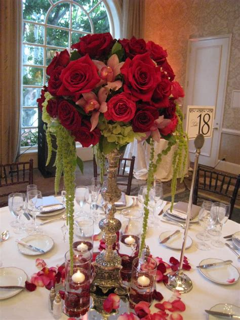 beautiful red flowers for wedding centerpiece ipunya