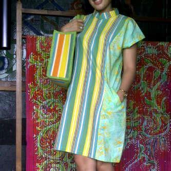 Dress Batik 05 Orange model baju dari kain tenun lurik kain tenun indonesia
