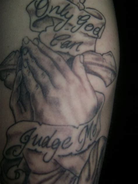 only god can judge me tattoo with cross only god can judge me with cross picture