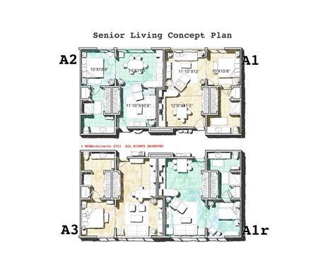 senior living floor plans mcm design senior living plans