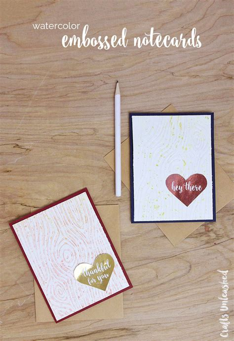 I Found A Gift Card And Used It - diy greeting cards watercolor embossed cards consumer crafts