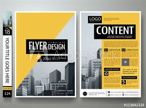 magazine layout companies flyers design template vector business brochure report