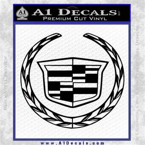 cadillac new logo full decal sticker 187 a1 decals