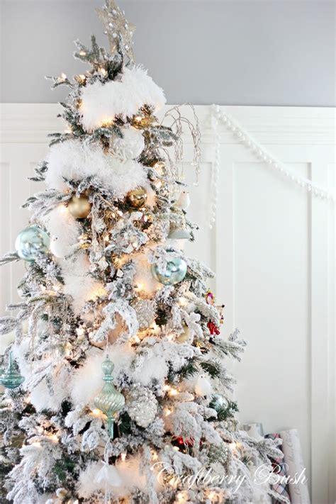 white furry fluffy christmas trees the flocked tree secret garland revealed