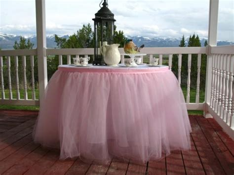 8 ft table skirt ready to ship 8ft pink tulle table skirt tutu