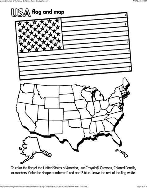 Incredible United States Of America Flag Coloring Page