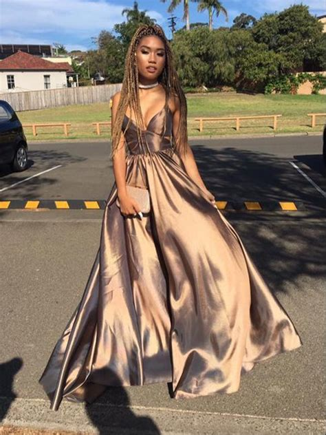 Simple V neck long prom dress , evening dresses · Dreamy Dress · Online Store Powered by Storenvy