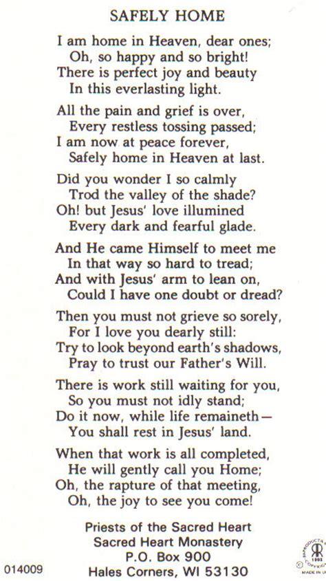 image safely home poem