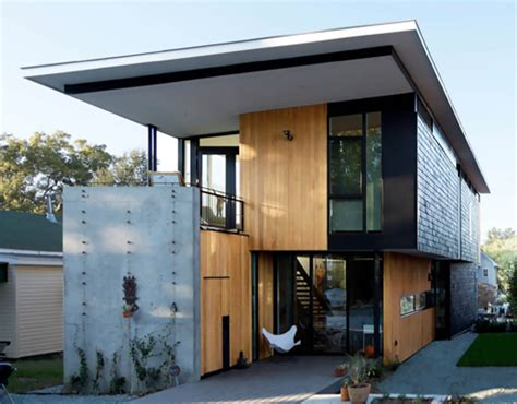 compact house two compact modern homes fill challenging empty lots in an