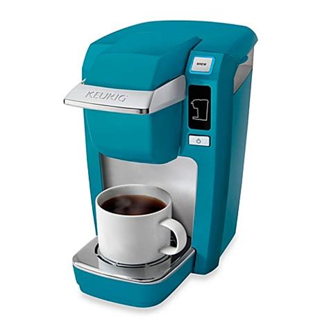 bed bath and beyond keurig keurig 174 k15 mini plus brewing system in aqua blue bed