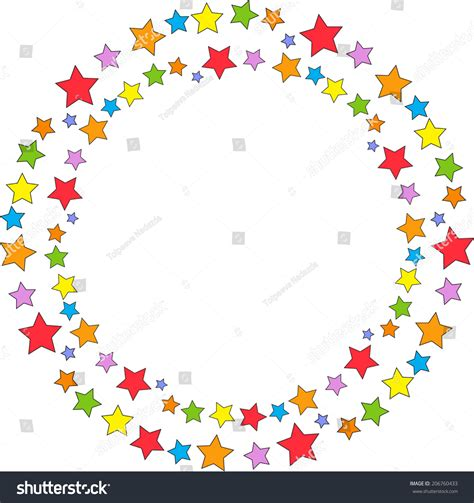 cornici da stare gratis colorate bright frame colored stock vector