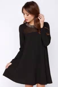 Clothing Dresses Long Sleeve Holiday Black » Ideas Home Design