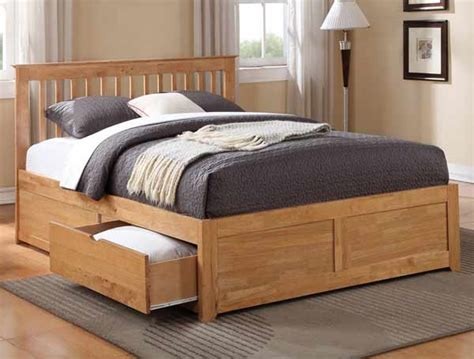 King Size Bed Frame With Storage Drawers King Size Wooden Bed Frame With 4 Drawers Wooden Global