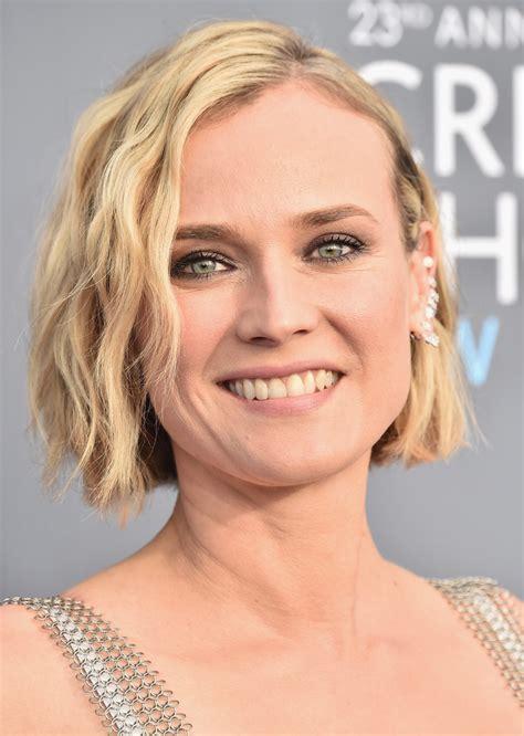 Diane Kruger Hairstyles by Diane Kruger Wavy Cut Hairstyles Lookbook
