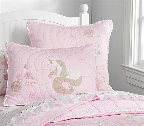 unicorn bedding for kids unicorn quilted bedding pottery barn kids