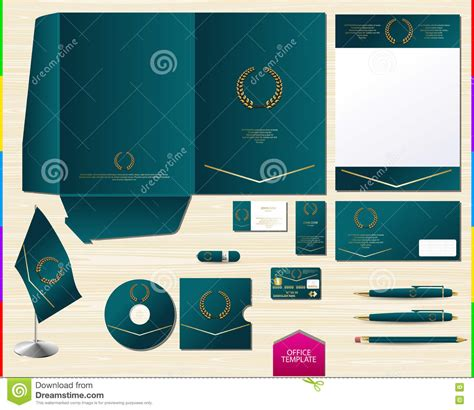 vector royal turquoise corporate id brand book template