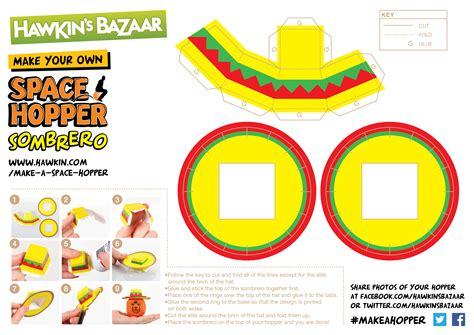 How To Make A Mexican Sombrero Out Of Paper - 1000 images about space hopper papercraft on