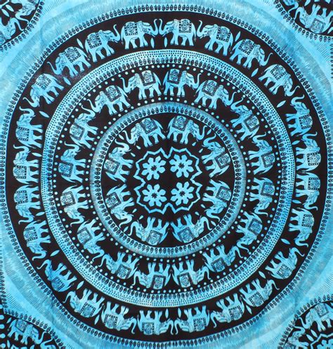 How To Make Up A Bed With A Duvet Large Turquoise Elephant Mandala Tapestries Hippie Decor