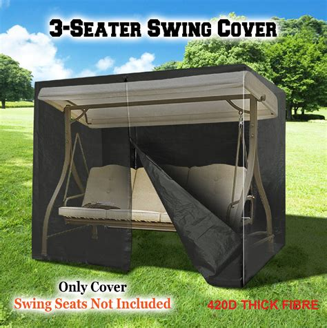 patio swing cover waterproof 420d garden patio outdoor furniture 3 seater