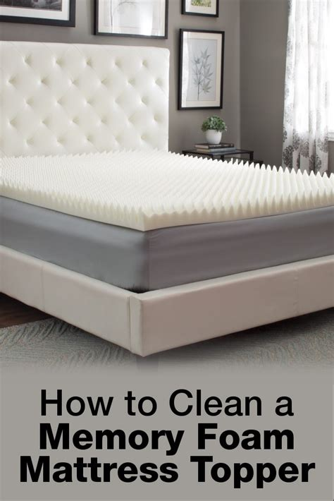 How To Clean A Mattress Pad by The Best Way To Clean A Memory Foam Mattress Topper