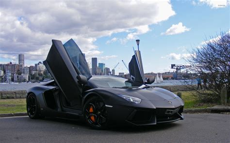 Open Lamborghini Lamborghini Aventador With Doors Open Wallpaper Car