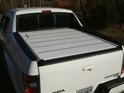 truck bed tops peragon retractable truck bed covers for honda ridgeline