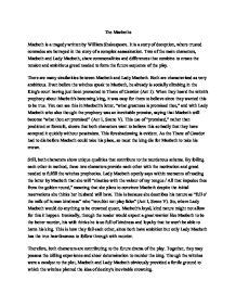 Macbeth Deception Essay by The Macbeths There Are Many Similarities Between Macbeth And Macbeth Both Are
