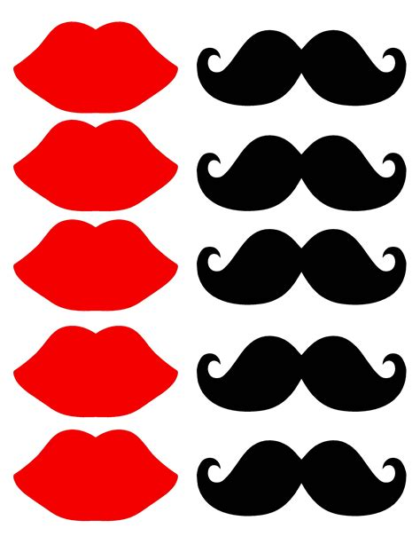 free printable mustache and lips photo booth props piruletas disfraz mi mam 193 tiene un blog