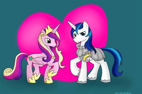 my little pony princess cadence shining armor princess cadence and shining armor by blueeyesneko on