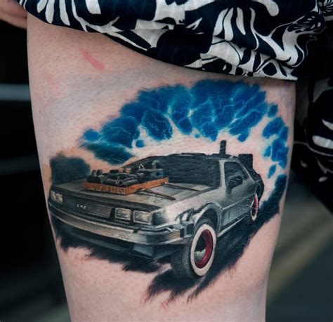 future tattoos delorean back to the future by dublinink on deviantart