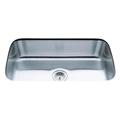 Undercounter Kitchen Sink Kohler Undertone Undercounter Stainless Steel 32 In Single Bowl Kitchen Sink K 3183 Na The