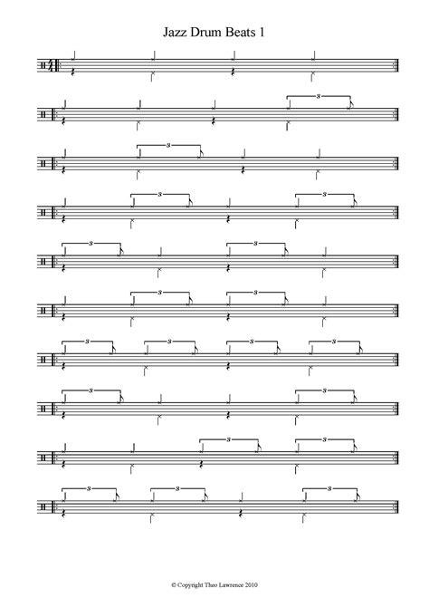rhythm drum lessons basic jazz drum patterns